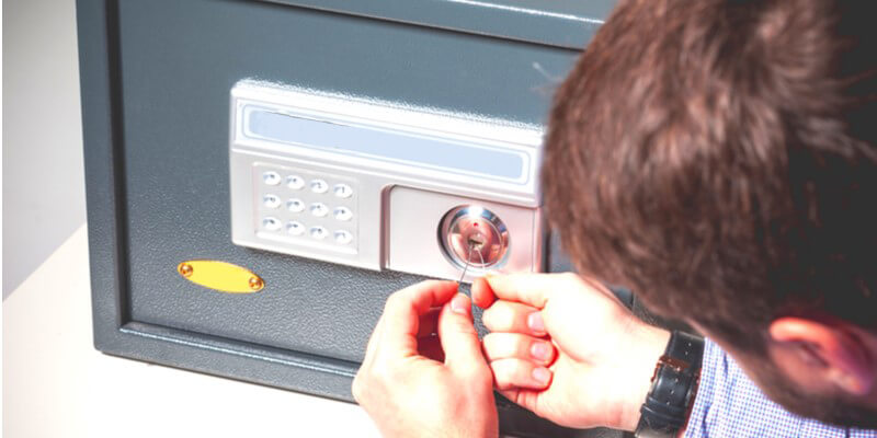 cracking open a safe - Safes NYC